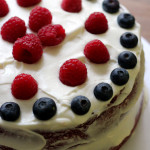 red, white, and blue velvet cake