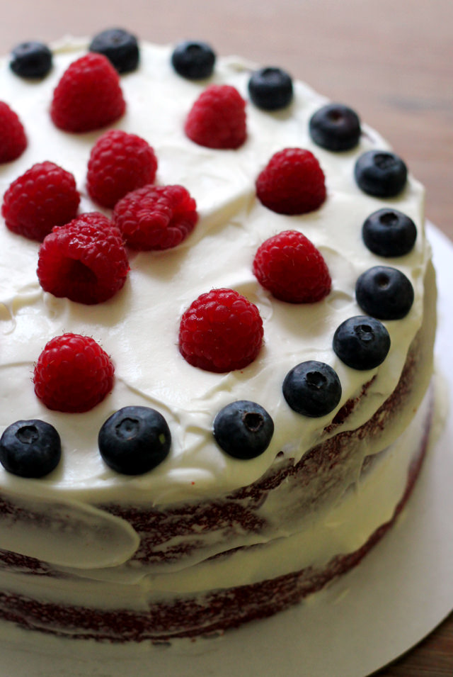 This star spangled red, white, and blue velvet cake is perfect for ...