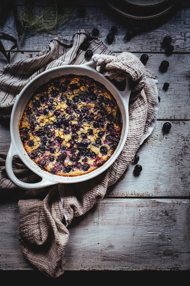 Blueberry and Sweet Corn Flaugnarde
