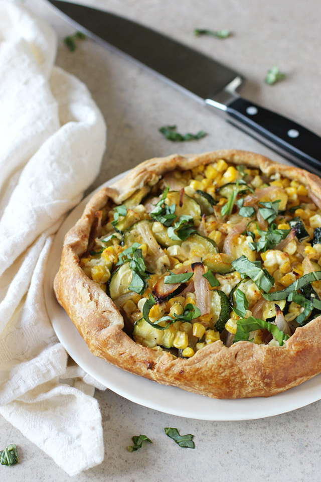 Corn and Zucchini Galette