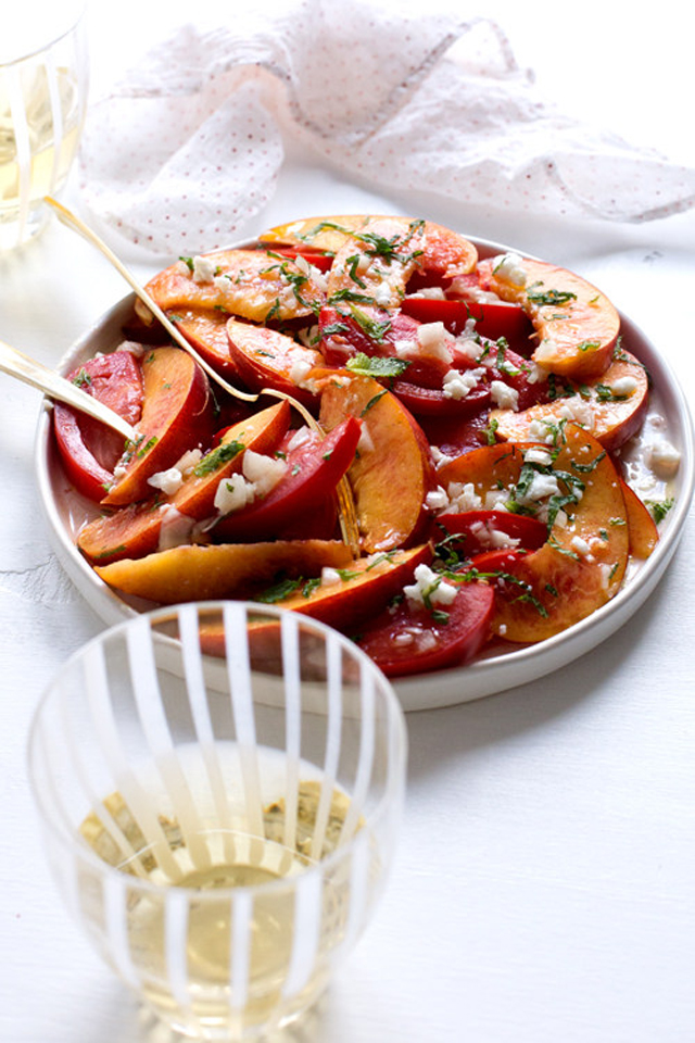 Summer Nectarine and Tomato Salad with Feta and Mint