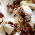 cinnamon basil and pine nut praline ice cream