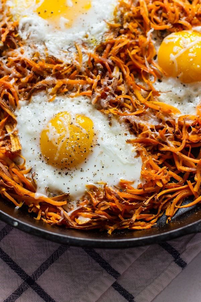 sweet potatoes and eggs