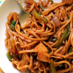Pad Kee Mao (Spicy Thai Noodles with Peppers)