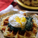 Potato Waffle Eggs Florentine