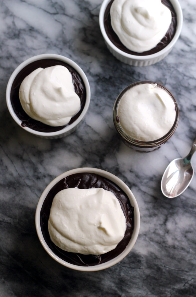 quadruple-chocolate chocolate pudding