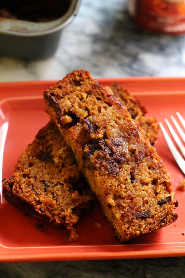pumpkin chocolate chunk bread