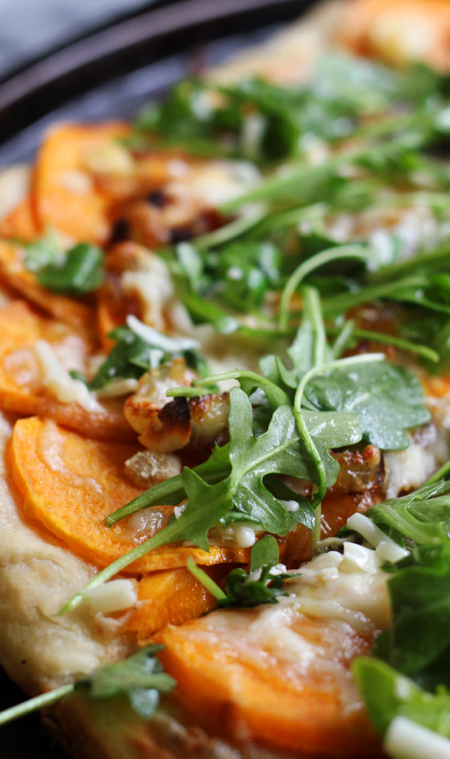 Roasted Sweet Potato and Caramelized Onion Pizza | Joanne Eats Well ...