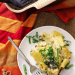 Lemony Spinach and Artichoke Baked Ziti