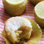 Lemon Ricotta Cornmeal Muffins with Lemon-Vanilla Glaze