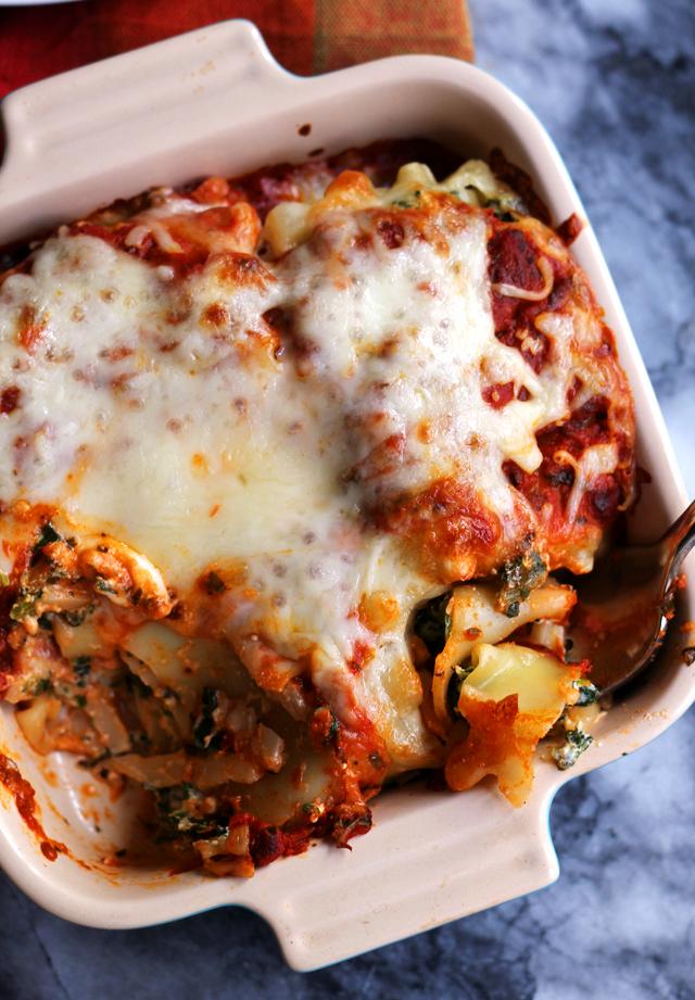 Spinach and Ricotta Manicotti