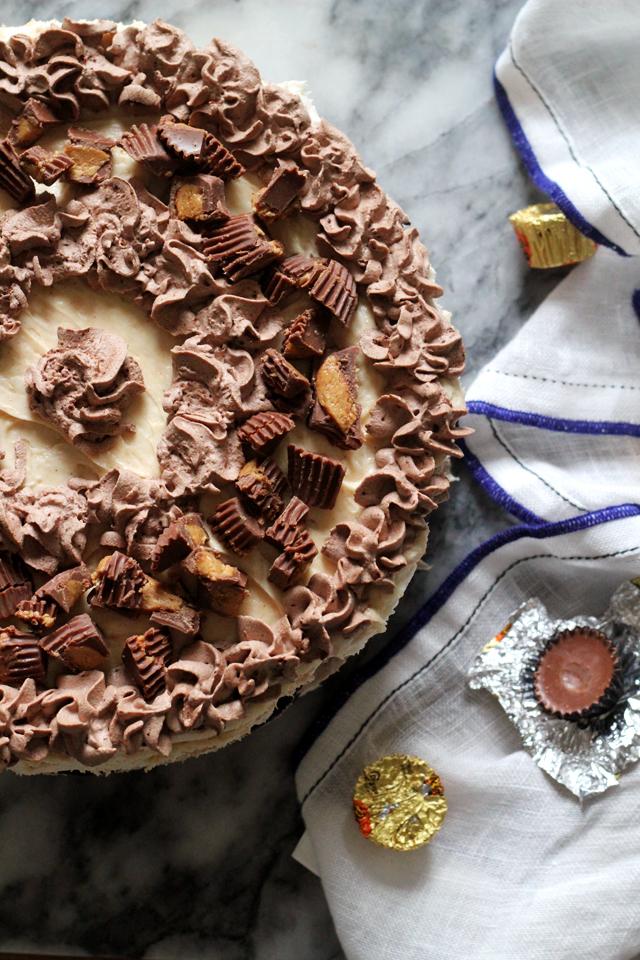 Chocolate and Peanut Butter Oreo Icebox Cake