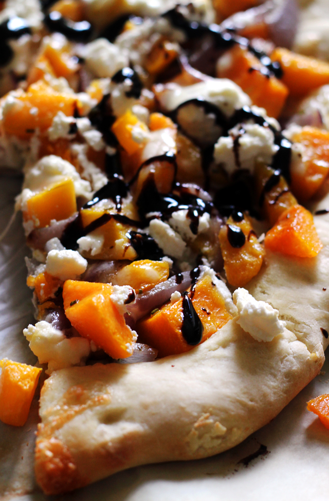 Butternut Squash Pizza with Ricotta and Balsamic Syrup