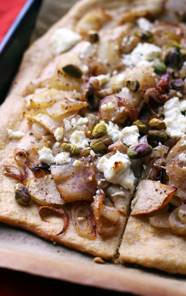 Roasted Apple, Shallot, and Goat Cheese Tart