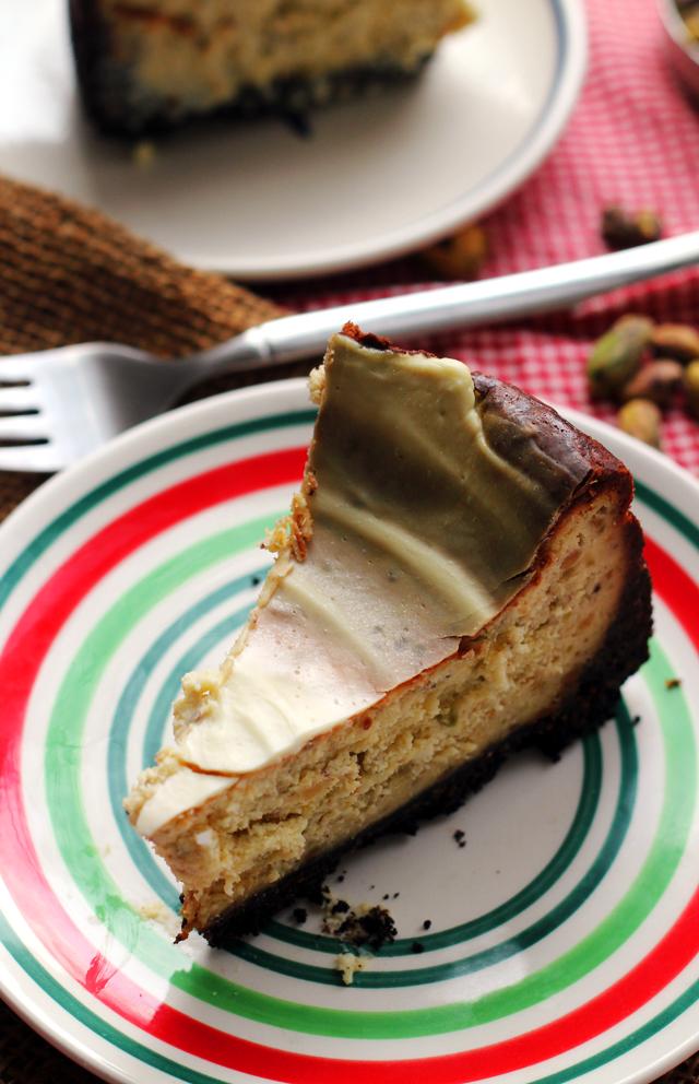 White Chocolate Pistachio Cheesecake