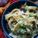 Authentic Roasted Garlic Fettuccine Alfredo with Broccoli