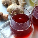Cranberry Ginger Mimosas with Homemade Ginger Simple Syrup