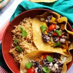 Crispy Black Bean Tacos with Mango Pico de Gallo