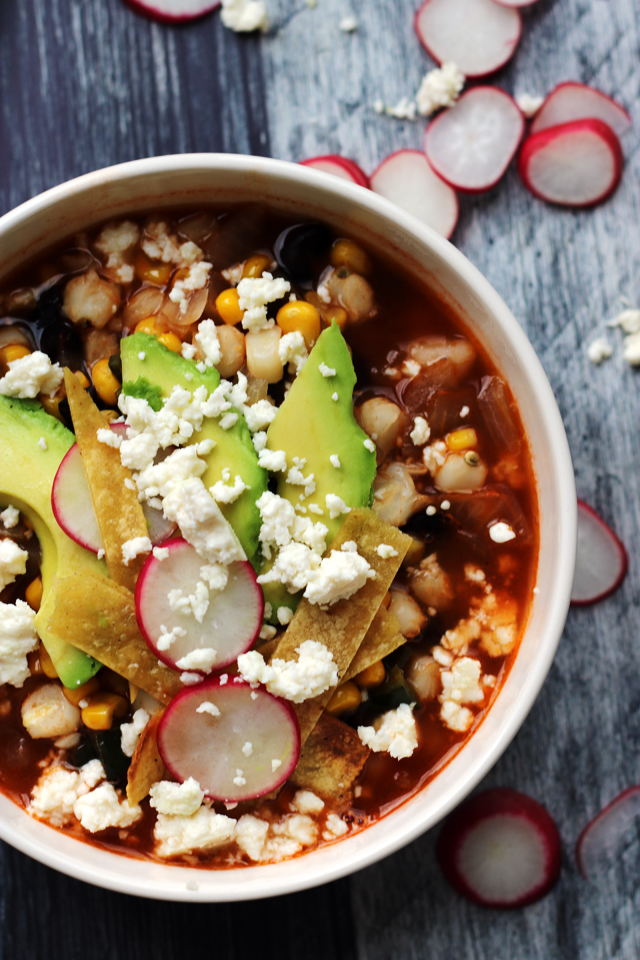 Loaded Vegetarian Tortilla Soup
