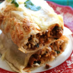 Smoky Pinto Bean and Swiss Chard Baked Vegetarian Burritos