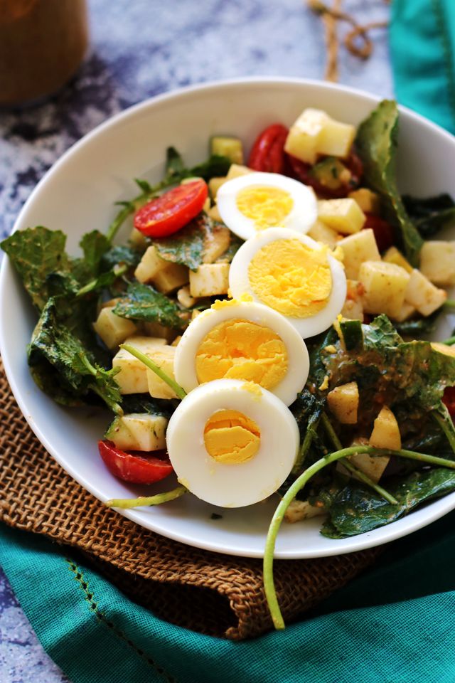 Chopped Kale Salad with Smoky Pecan Paprika Vinaigrette