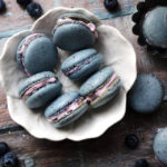 Blueberry Macarons with Blueberry Mascarpone Cream