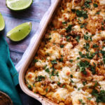Mexican Street Corn and Zucchini Baked Macaroni and Cheese