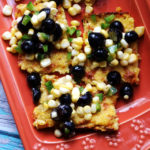 Polenta Bites with Spicy Blueberry Jalapeno Corn Relish