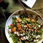 Spiced Israeli Couscous, Rainier Cherry, Apricot, and Goat Cheese Salad