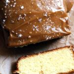 Buttery Pound Cake with Salted Caramel Glaze