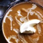 Sweet Potato Butternut Apple Soup with Mascarpone