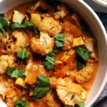 Thai Red Curry with Roasted Cauliflower and Delicata Squash