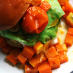 Chickpea Shawarma Burgers with Maple-Chili Roasted Butternut Squash