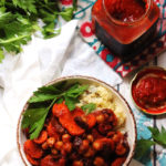Moroccan Spiced Chickpea and Carrot Ragout with Couscous Pilaf