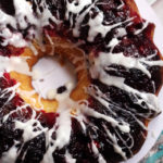 Cranberry Meyer Lemon Bundt Cake with Lemon Glaze