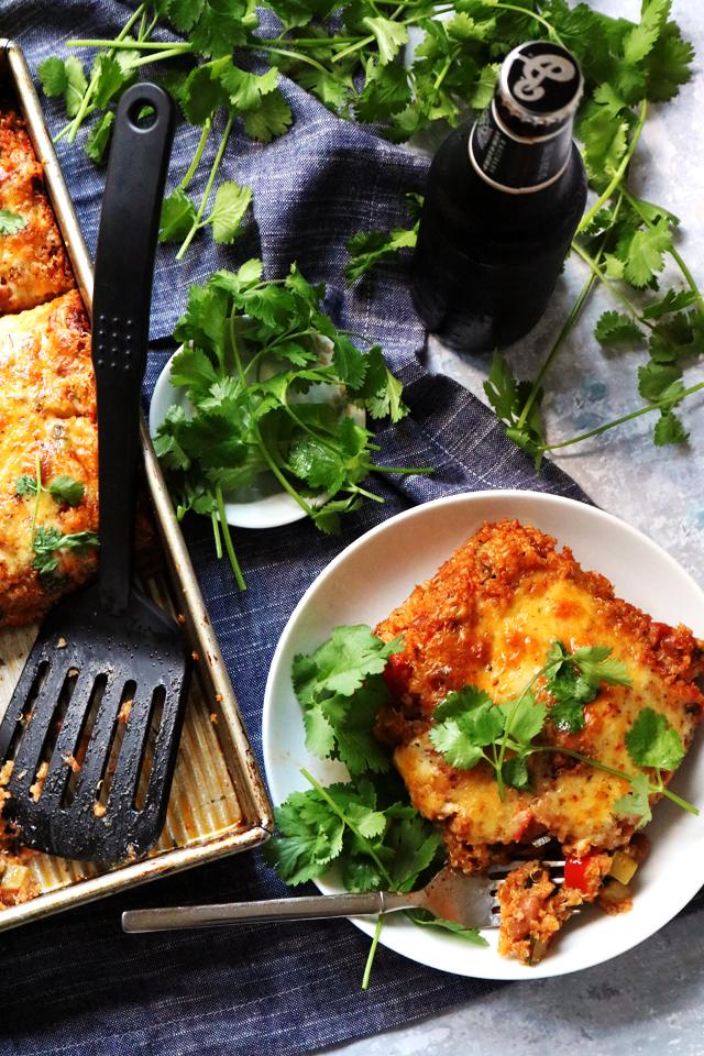 Easy Mexican Vegetable Quinoa Casserole