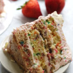 Strawberry Confetti Quadruple Layer Cake