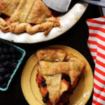 Peach and Black Raspberry Pie