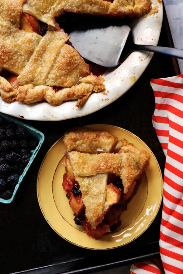 Peach and Black Raspberry Pie