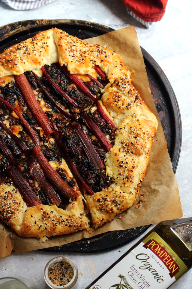Swiss Chard and Caramelized Onion Goat Cheese Galette