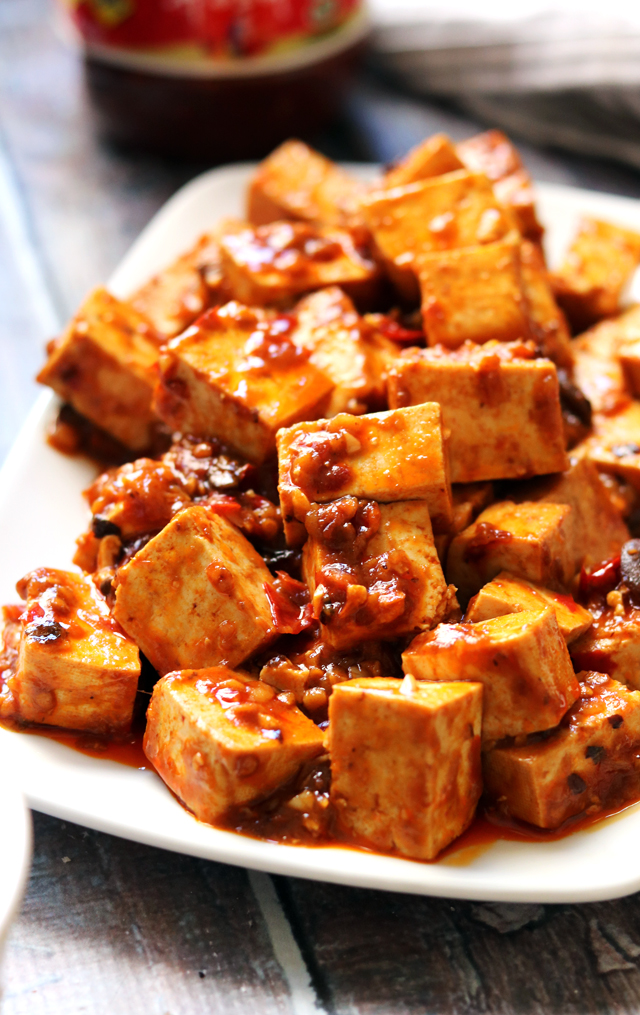 Fiery Vegetarian Mapo Tofu with Spicy Twice-Cooked Chard