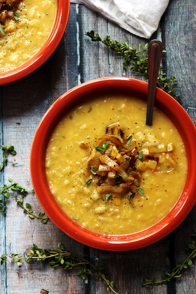 Wine-Braised Leek and White Bean Soup