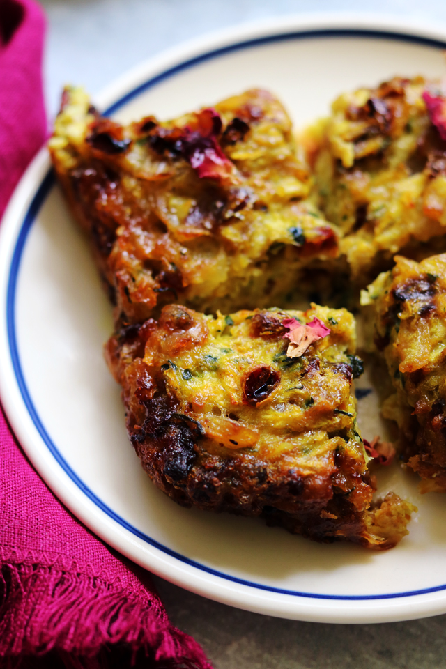Persian Zucchini Frittata (kookoo kadoo)