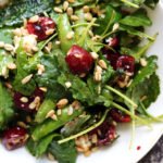 Early Summer Farmer's Market Salad with Cherries, Sugar Snap Peas, and Feta