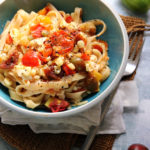 Fresh Summer Corn and Heirloom Tomato Fettuccine