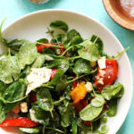 Marinated Sweet Pepper Salad with Basil, Capers, and Pecorino