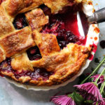 Plum Blueberry Balsamic Pie