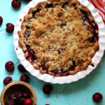 Sweet Cherry Streusel Pie