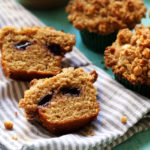 Peanut Butter and Jelly Muffins with Peanut Streusel