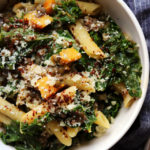 One-Pan Pasta with Squash, Kale, and Capers